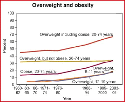 Overweight and Obesity Graph