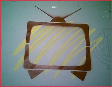 Television stencil
