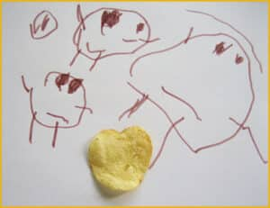 Heart Shaped Potato Chip