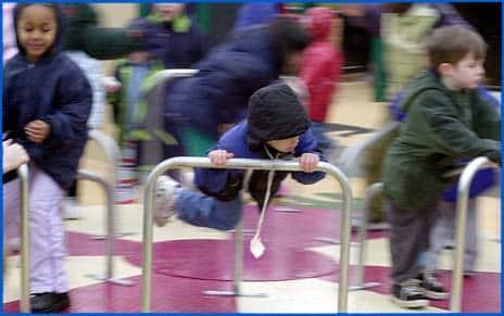 Kids playing at Edwin Pratt Park, 2002