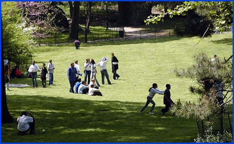 Central Park, Kids Playing