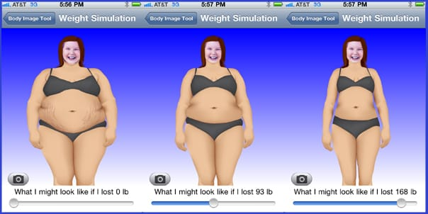 iPhone weight simulation
