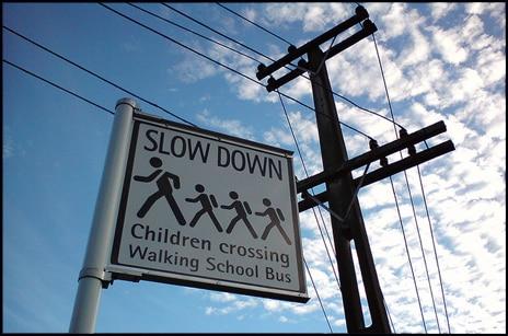 It's not a walking school bus