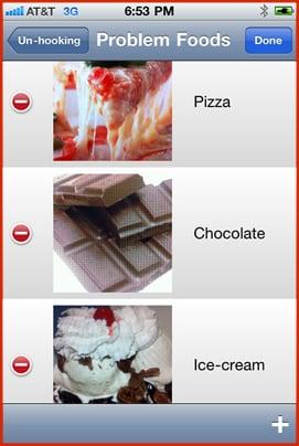 iPhone problem foods