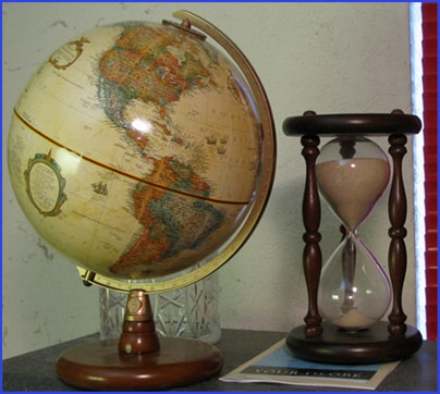 Globe and Hourglass