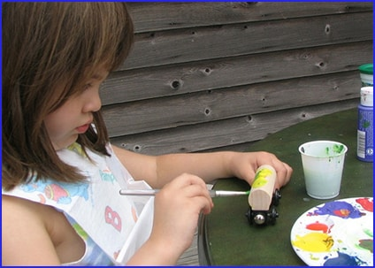 concentration while painting