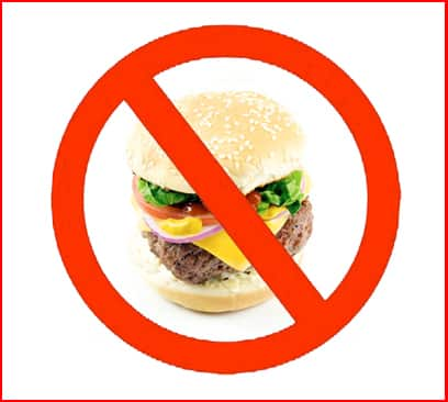 No cheeseburger