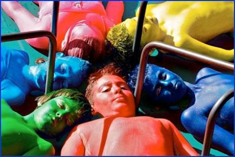 Multi-Colored-Body Art