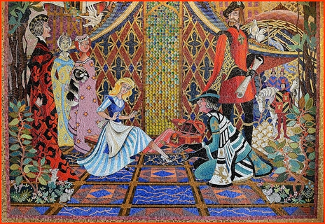 Mural inside Cinderella's Castle