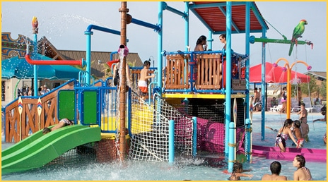 One of the kids' play areas