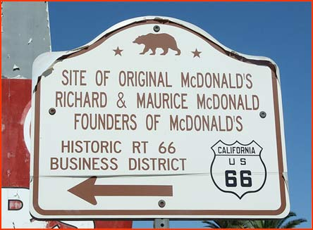 Site of the first McDonald's
