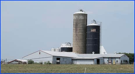 Farm Silos at Cherry Crest Adventure Farm