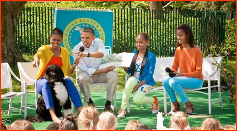 Obama Family at Easter