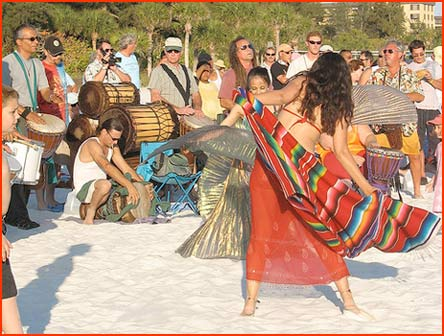 Siesta Key drum circle