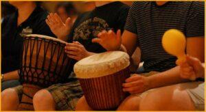 student-drum-circle