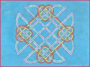 Celtic-Knots-Crayon-&-Ink-Resist