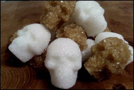 skull sugar cubes