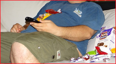 Sedentary lifestyle -- couch potato