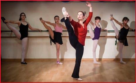 Galit and her classic ballet class