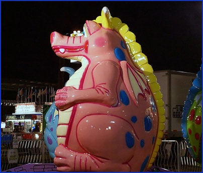 Obese dragon ride