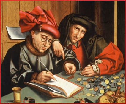 (follower of) Marinus van Reymerswaele -- Two Misers (1540s)