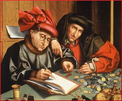 (follower of) Marinus van Reymerswaele -- Two Misers (1540s)