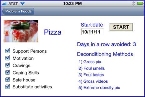 iPhone problem foods deconditioning