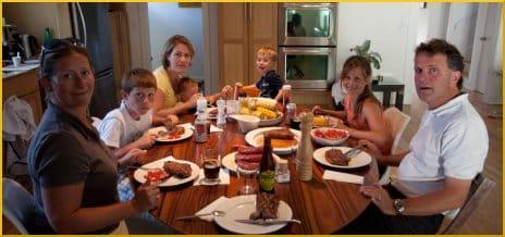 BBQ steak dinner