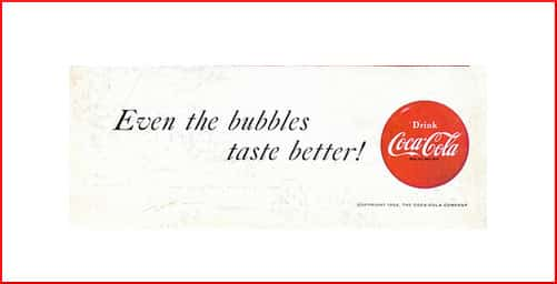 Coca-Cola ad: Even the bubbles taste better!