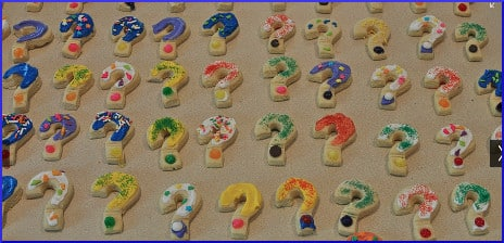 question mark shaped cookies