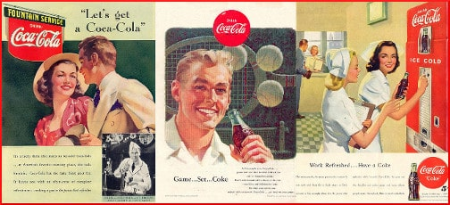 Coca Cola ads from the '50s