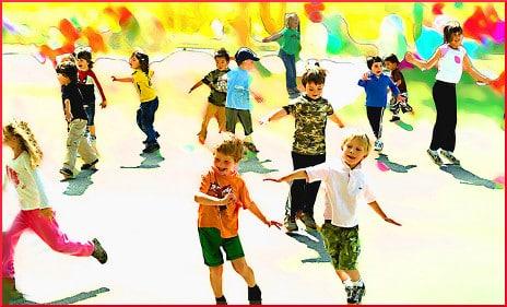 [children dancing]