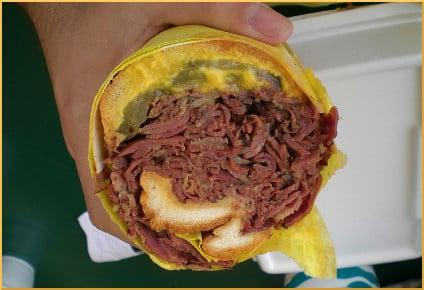 Lucky Boy - Pastrami Sandwich Cross Section