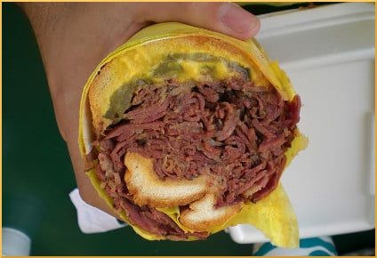 Lucky Boy - Pastrami Sandwich Cross Section