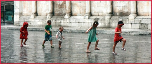 Rain in the Piazza