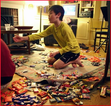 haggling for halloween candy