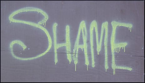 Shame  (yellow paint)