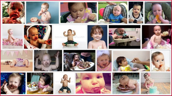 baby eat cake search