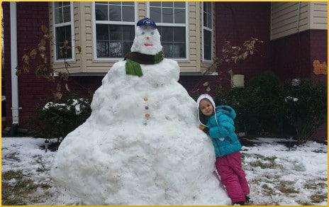 Obese snowman, Vera