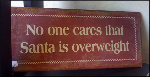 No one cares that Santa is overweight