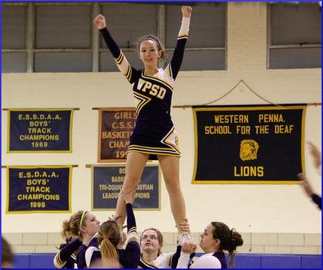 Cheerleader in Air take #1