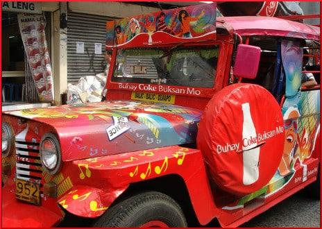 Coke Jeepney in Manila