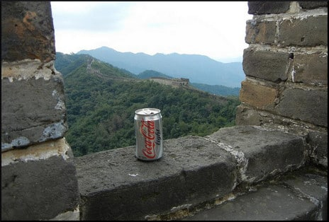 Diet Coke on the wall