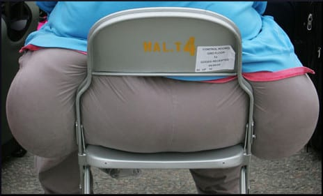 The world needs wider folding chairs