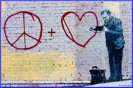 banksy - peaceful hearts doctor - 4