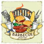 42441307 - bbq grill icon design - barbecue collection illustration with sample text
