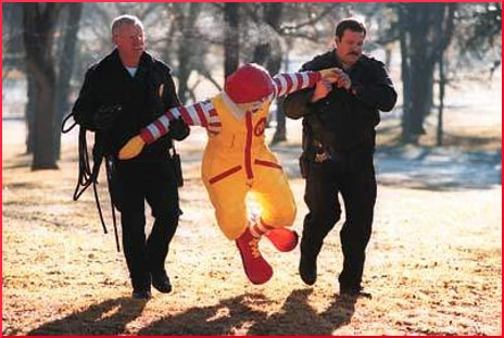 ronald-mcdonals-being-arrested