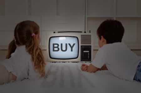 kids watching old television set