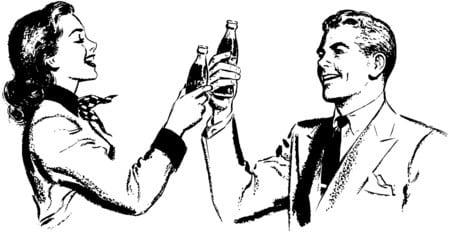 couple-toasting-soda-vintage