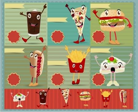 fast-food-cartoon-characters
